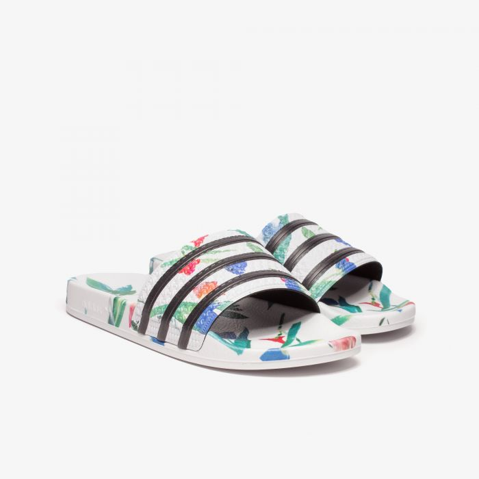 CHANCLA ADIDAS ADILETTE FLORAL WHITE