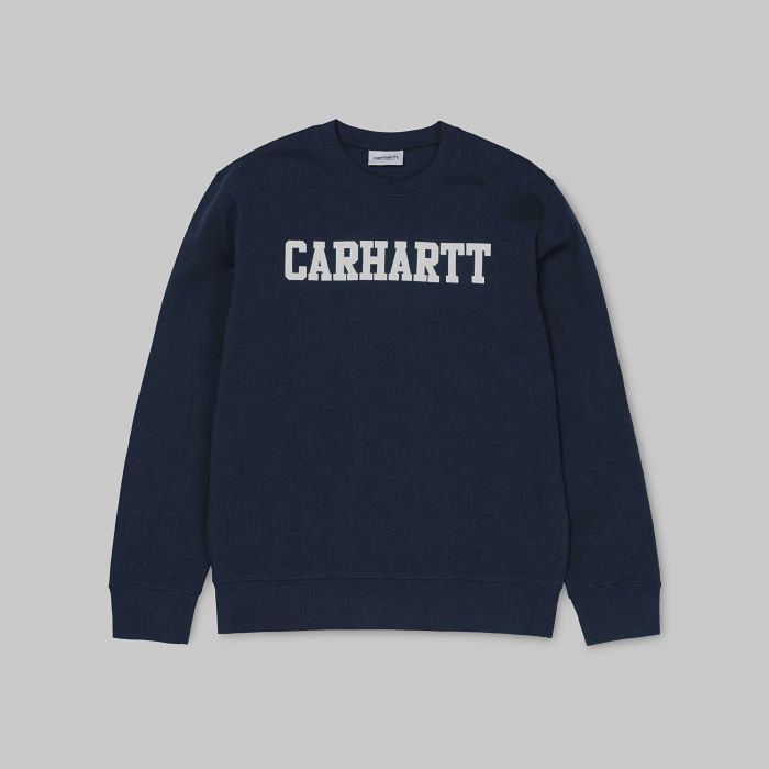 SUDADERA COLLEGE COTTON DARK NAVY-WHITE