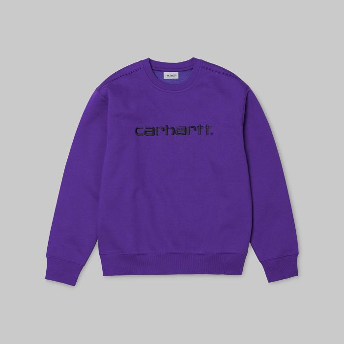 SUDADERA CARHARTT COTTON-POLY VIOLA-BLACK