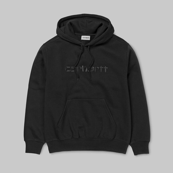 SUDADERA HOODED CARHARTT BLACK