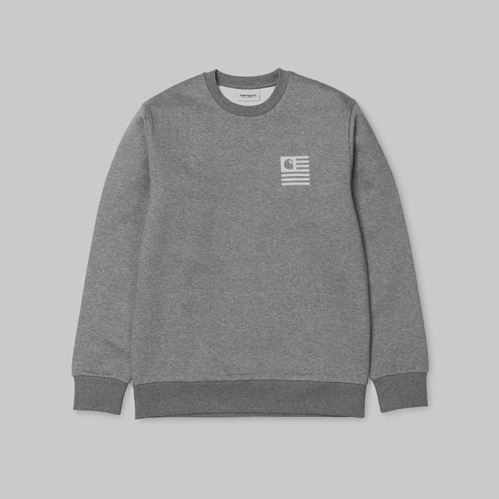 SUDADERA STATE SPORTS DARK GREY HEATHER