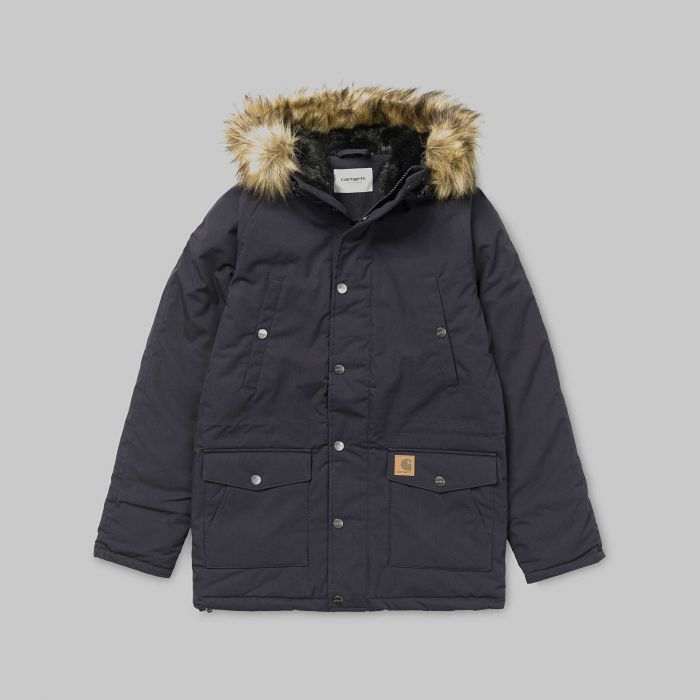 CAZADORA W TRAPPER D.NAVY-BLACK