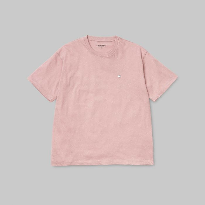 CAMISETA W S/S NEPS CHASE SOFT ROSE-WHITE
