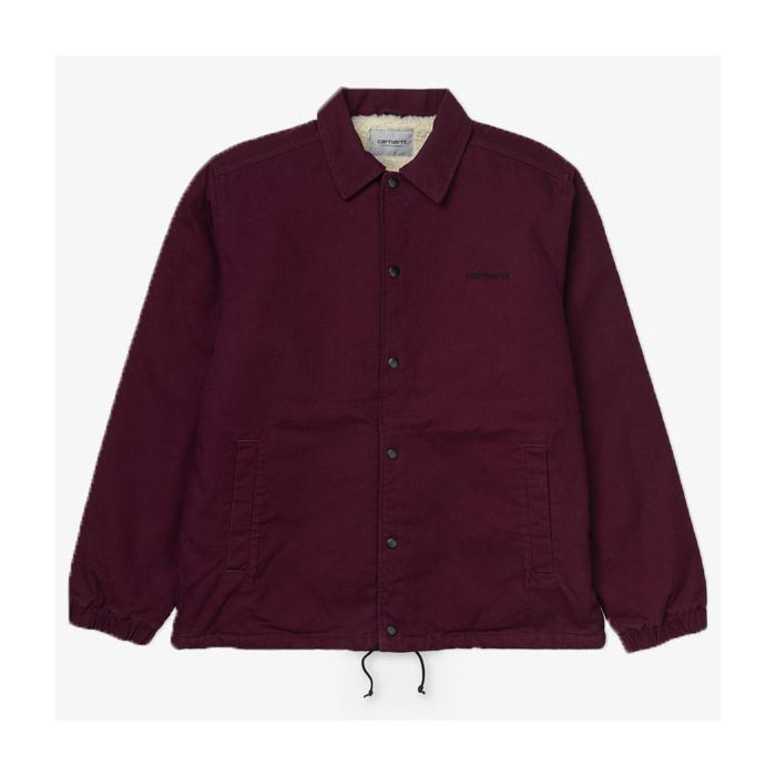 CAZADORA CARHARTT CANVAS COACH MERLOT-BLACK