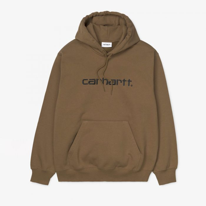 SUDADERA CARHARTT HOODED BROWN/BLACK