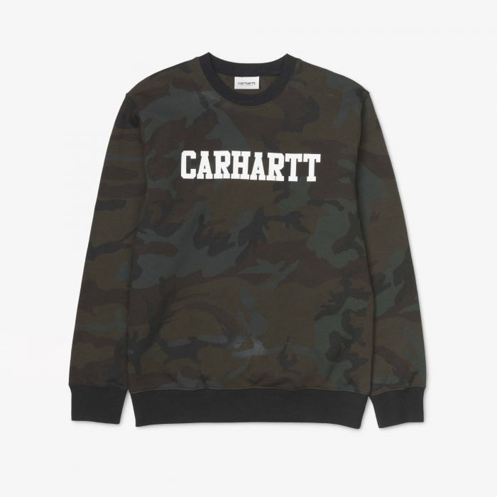 SUDADERA CARHARTT COLLEGE COTTON EVERGREEN