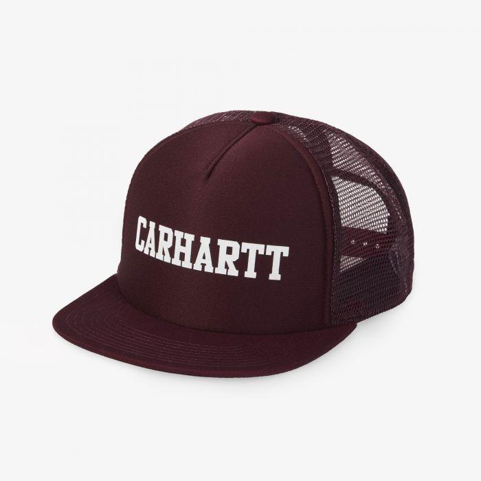 GORRA CARHARTT COLLEGE TRUCKER MERLOT/WHITE