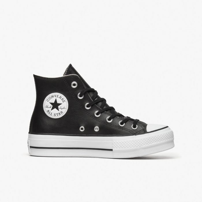 ZAPATILLA CONVERSE ALL STAR LIFT CLEAN HI NEGRA