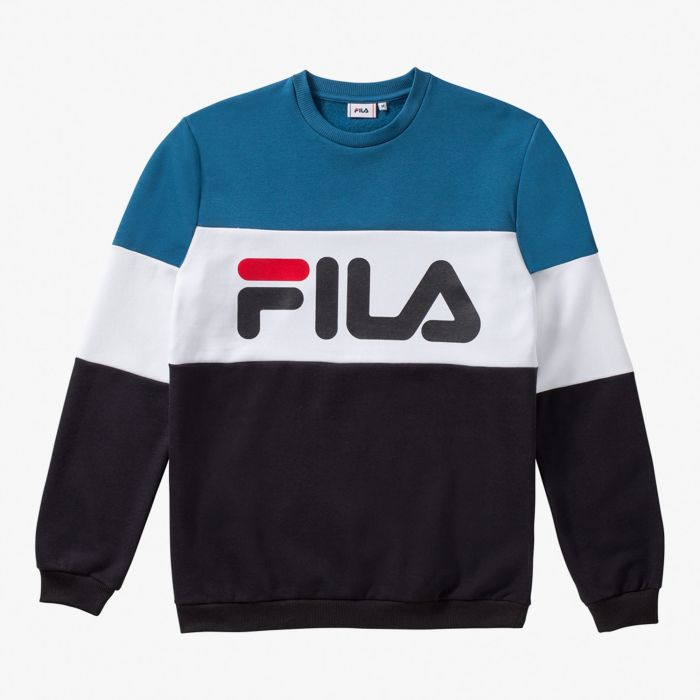 SUDADERA FILA STRAIGHT BLOCKED BLUE