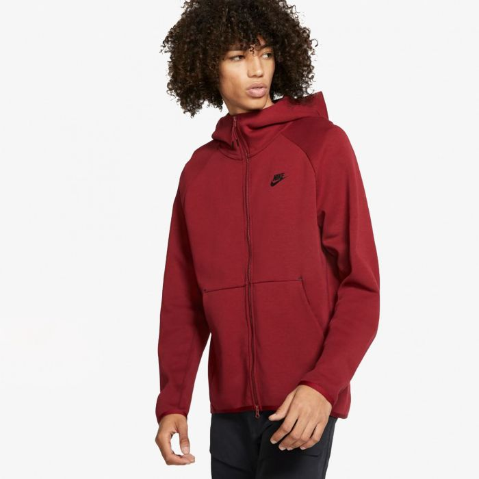 SUDADERA NIKE TECH FLEECE HOODIE RED
