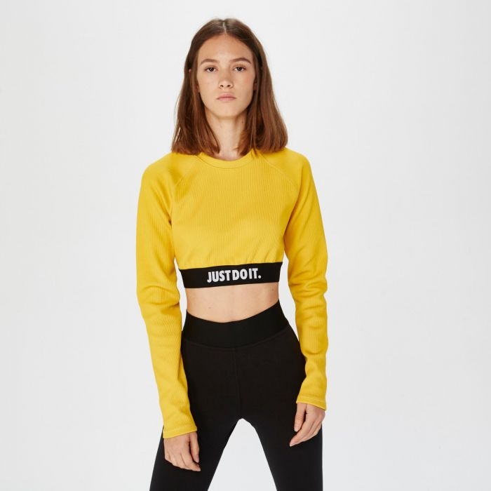 CAMISETA NIKE TOP CROP RIB YELLOW