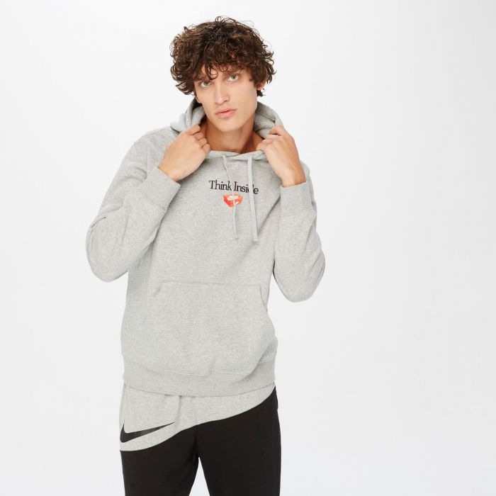 SUDADERA NIKE THINK INSIDE GREY