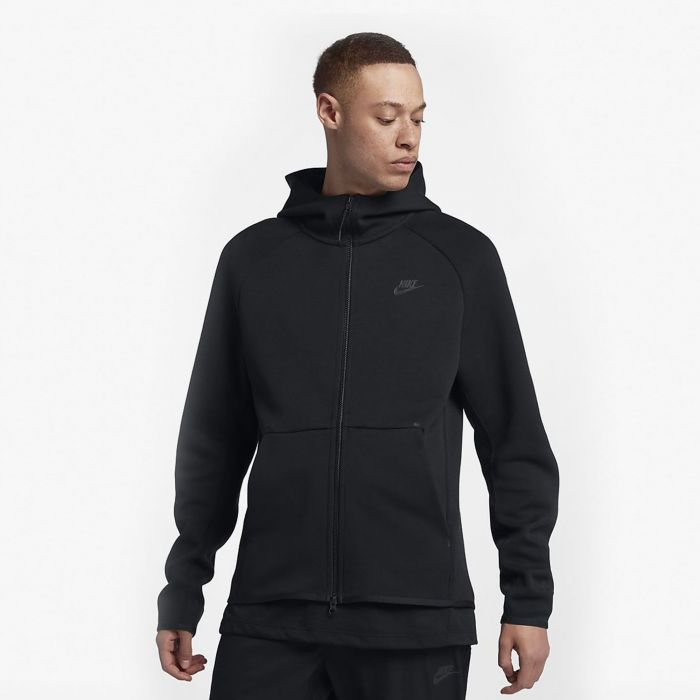 SUDADERA NIKE TECH FLEECE BLK MN