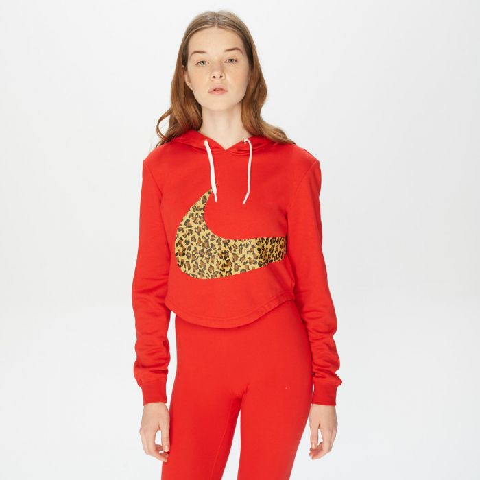 SUDADERA NIKE ANIMAL PRINT RED