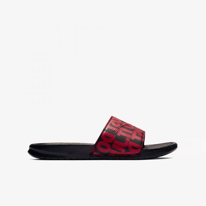 CHANCLA NIKE BENASSI PRINT ME BLACK/RED