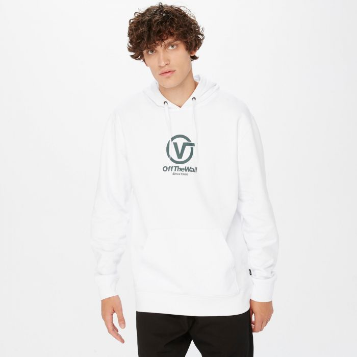 SUDADERA VANS DISTORTED PERFORMANCE WHITE